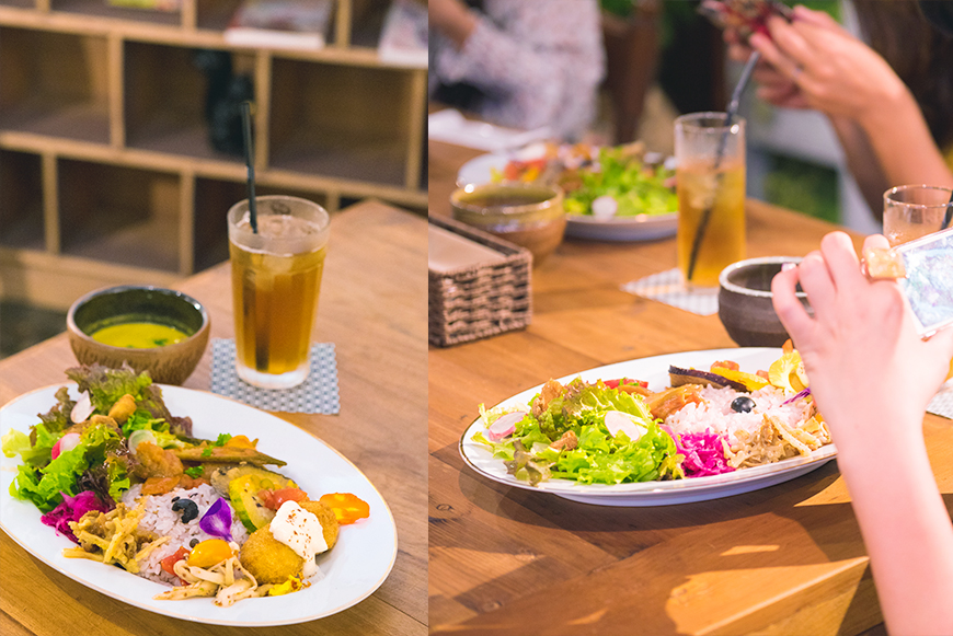 Arcade Resort Okinawa HOTEL&CAFE」のヴィーガンプレート