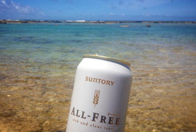 沖縄県の那覇新都心暮らし 海とノンアルビール